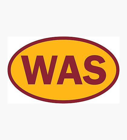 Washington - WAS - football - oval sticker and more Photographic Print