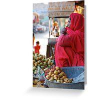 Guava Seller, Jodhpur Greeting Card