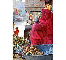 Guava Seller, Jodhpur Photographic Print