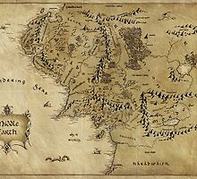 Map of Middle Earth LOTR by knollgilbert