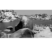 Boulders and People Photographic Print