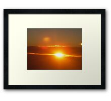 """Sunrise at Altitude "" Framed Print"