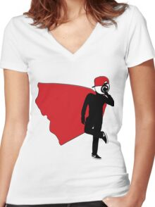 Swagger Eye Women's Fitted V-Neck T-Shirt