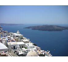 View of Santorini, Palea & Nea Kameni islands Photographic Print