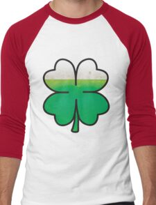 Green Beer Leaf Clover  Men's Baseball ¾ T-Shirt