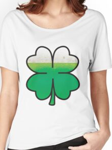 Green Beer Leaf Clover  Women's Relaxed Fit T-Shirt