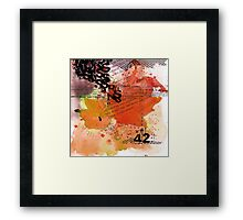 42 - The Meaning of Life Framed Print