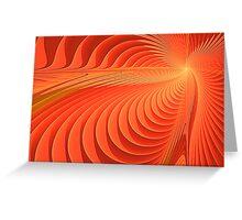 Energetic Waves  Greeting Card