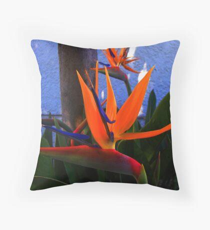 FLOWER BIRD Throw Pillow