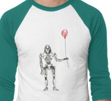 Cylon Centurion with Red Balloon Men's Baseball ¾ T-Shirt