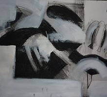 Charcoal and Acrylic Abstraction 1 by Josh Bowe