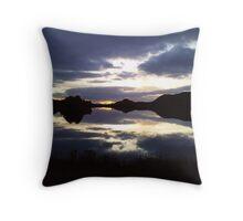 Sunset reflecting on Loch Tarff Throw Pillow