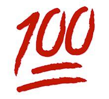 100 Emoji Logo Photographic Print