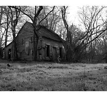 Swamp Shack - BW Photographic Print