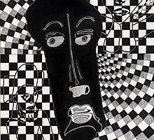 128 - AFRICAN IMAGES - DAVE EDWARDS - INK - 1986 by BLYTHART