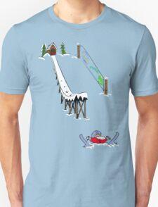 usa california skiier tshirt by rogers bros Unisex T-Shirt