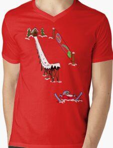 usa california skiier tshirt by rogers bros Mens V-Neck T-Shirt