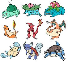 Kanto Starters All by rat-wing