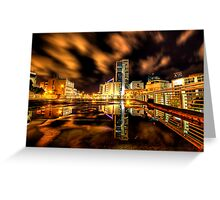 Urban landscape reflection  Greeting Card