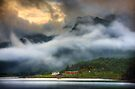 Orsvagvaer. Evening Mists. Lofoten Islands. Norway. by photosecosse /barbara jones
