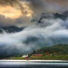 Orsvagvaer. Evening Mists. Lofoten Islands. Norway. by PhotosEcosse