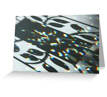 Shadow Play of Crystals Greeting Card