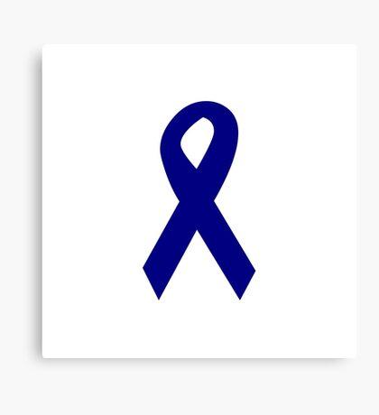 Dark Blue Ribbon Canvas Print