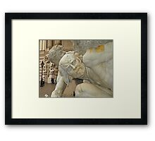 In your Face. Framed Print