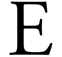 E, Alphabet Letter, Eee, Emily, Echo, Easy, A to Z, 5th Letter of Alphabet, Initial, Name, Letters, Tag, Nick Name by TOM HILL - Designer