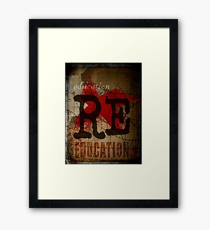 Education is freedom. Framed Print