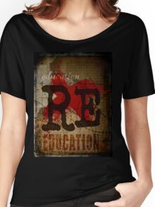 Education is freedom. Women's Relaxed Fit T-Shirt