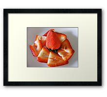 SLICED BERRIES Framed Print