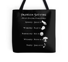 Problem Solving with Player Characters Tote Bag