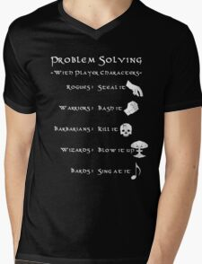 Problem Solving with Player Characters Mens V-Neck T-Shirt