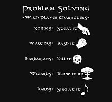 Problem Solving with Player Characters Unisex T-Shirt