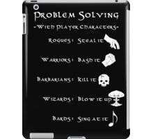 Problem Solving with Player Characters iPad Case/Skin