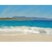 Painted Ocean Photographic Print