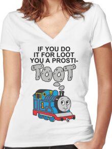Prosti-TOOT Women's Fitted V-Neck T-Shirt