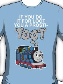 Prosti-TOOT! White Text T-Shirt