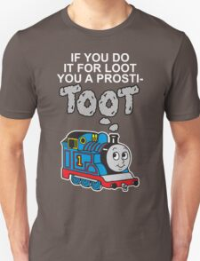Prosti-TOOT! White Text Unisex T-Shirt