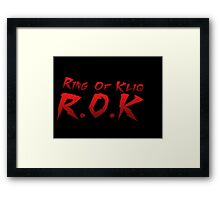 Ring Of Kliq Framed Print