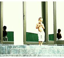 Boy in the mirror Photographic Print