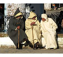 Three Men of Chefchaouen Photographic Print