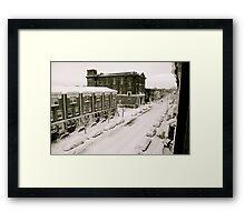 A Ghetto Snowstorm Framed Print