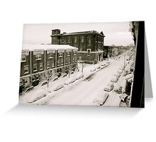 A Ghetto Snowstorm Greeting Card