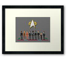 Star Trek: Deep Space Nine - Pixelart Crew Framed Print