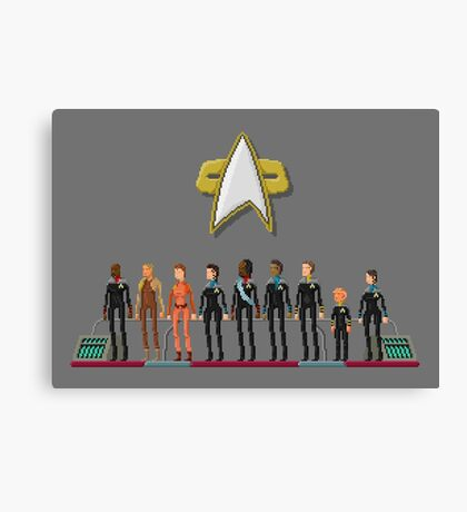 Star Trek: Deep Space Nine - Pixelart Crew Canvas Print