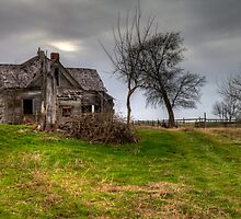 Ghostly Abode on a Country Road by Terence Russell