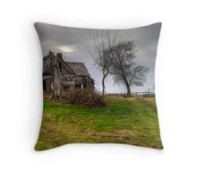 Ghostly Abode on a Country Road Throw Pillow