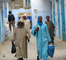 Citizens of Chefchaouen by Jamie Alexander